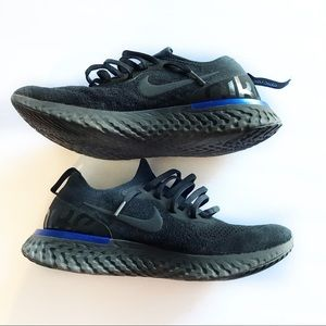 Nike   Epic React Flyknit 'Black Racer Blue'